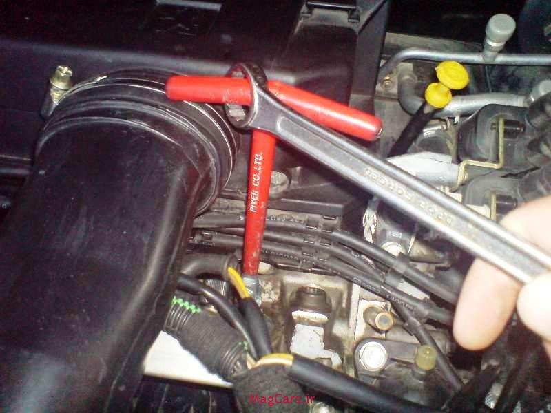 آموزش تصویری سرویس کردن شمع و وایر خودرو