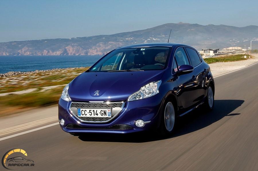 اتومبیل پژو 2008 رنگ آبی