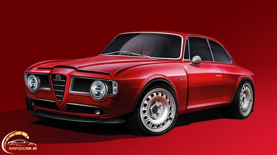 ماشین قرمز قدیمی آلفارومئو
